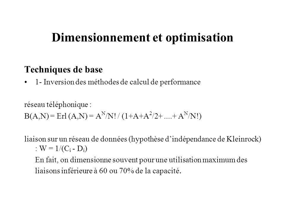 Dimensionnement et optimisation