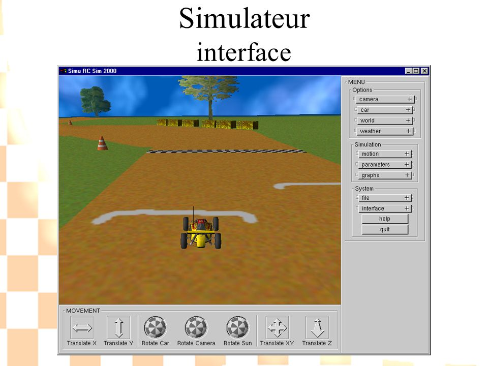 Simulateur interface