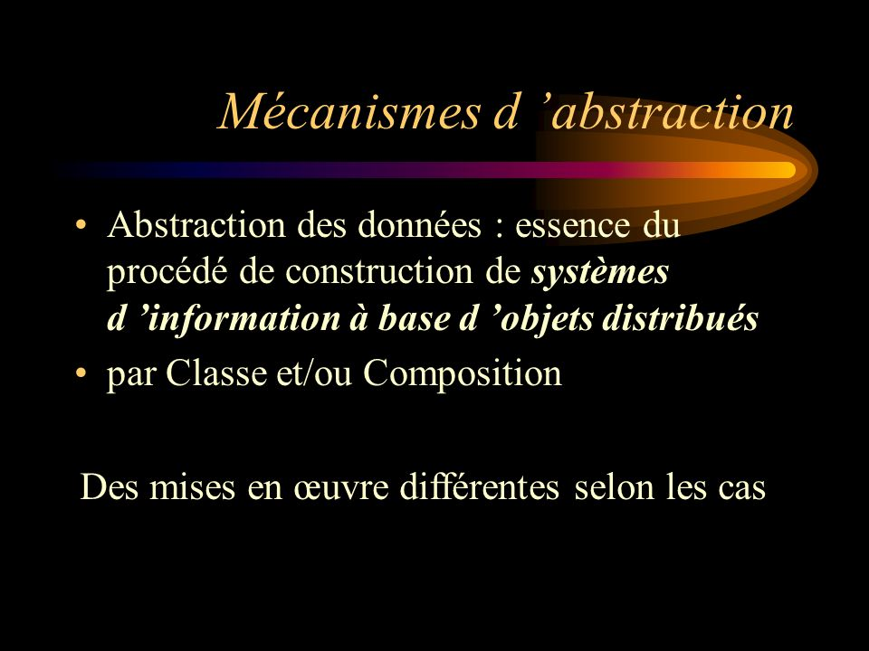 Mécanismes d 'abstraction