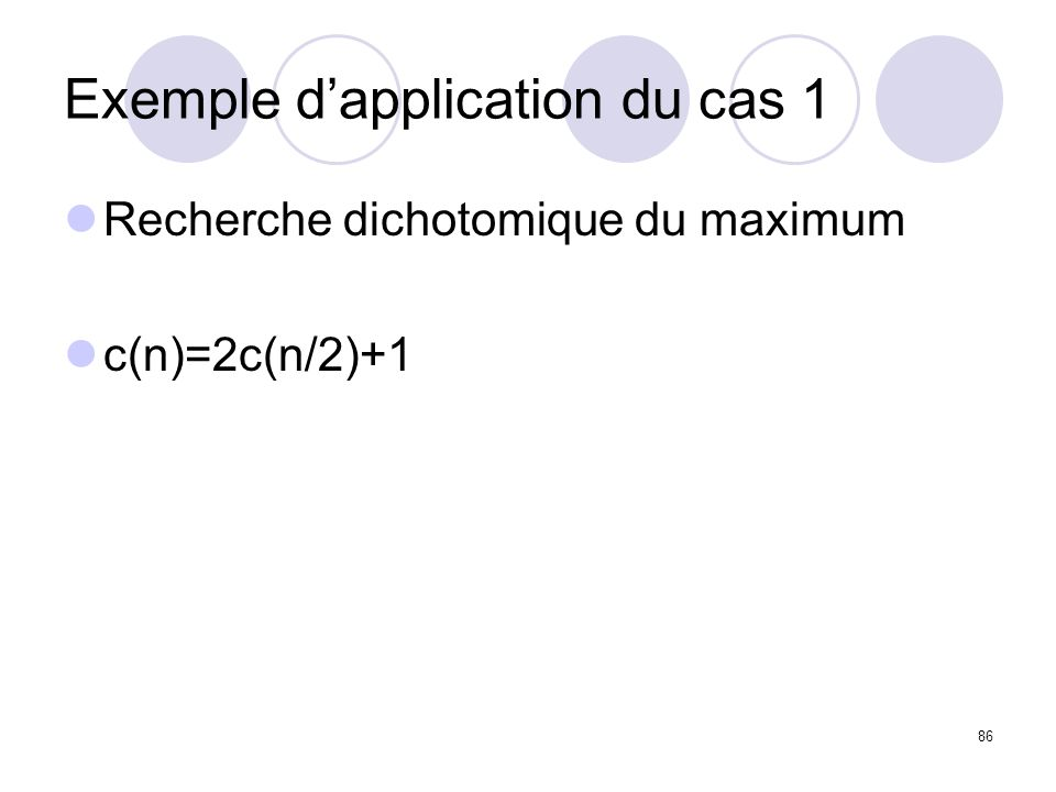 Exemple d'application du cas 1