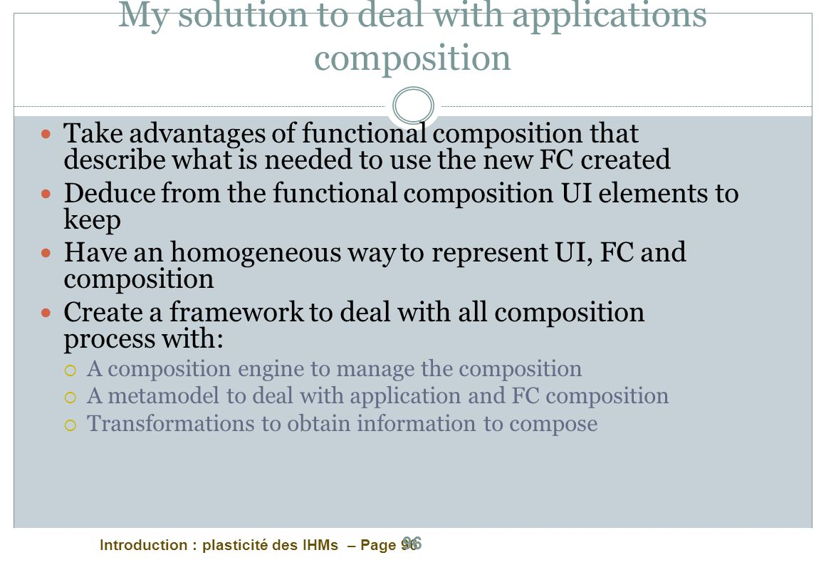 My solution to deal with applications composition