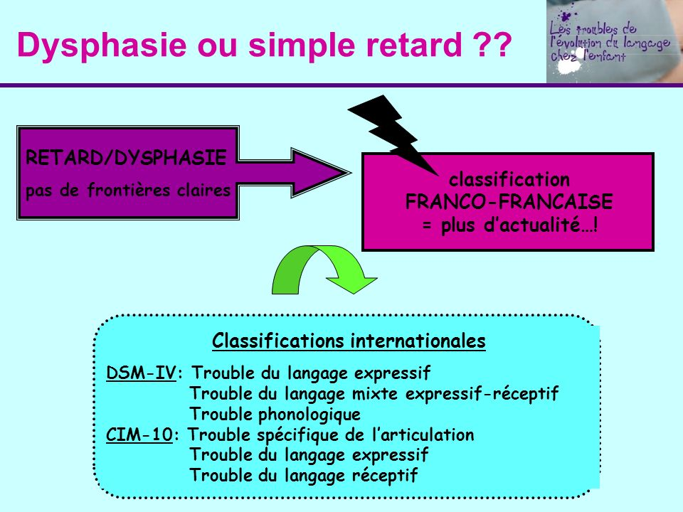 Dysphasie ou simple retard
