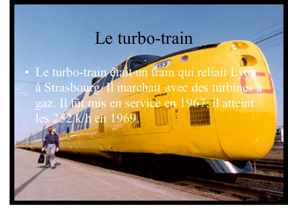 Le turbo-train