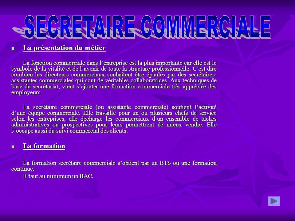 0148efcbf76 SECRETAIRE COMMERCIALE - ppt télécharger