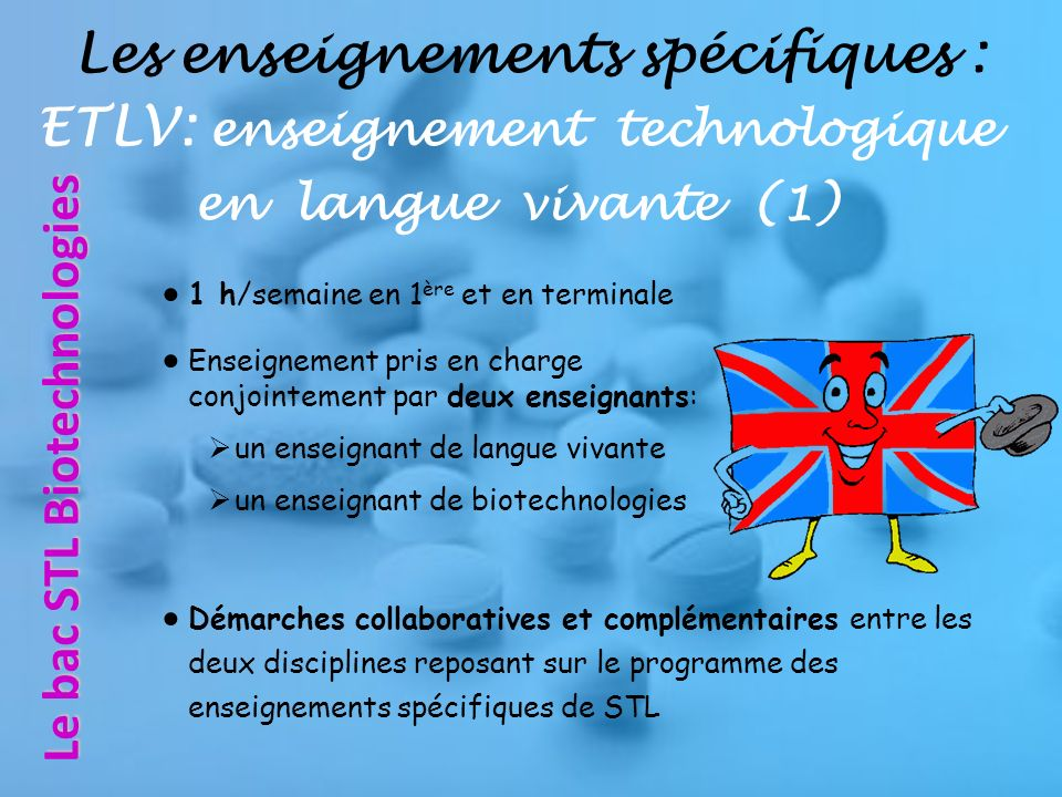 Le bac STL Biotechnologies