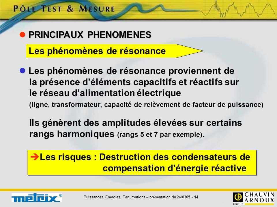 PRINCIPAUX PHENOMENES