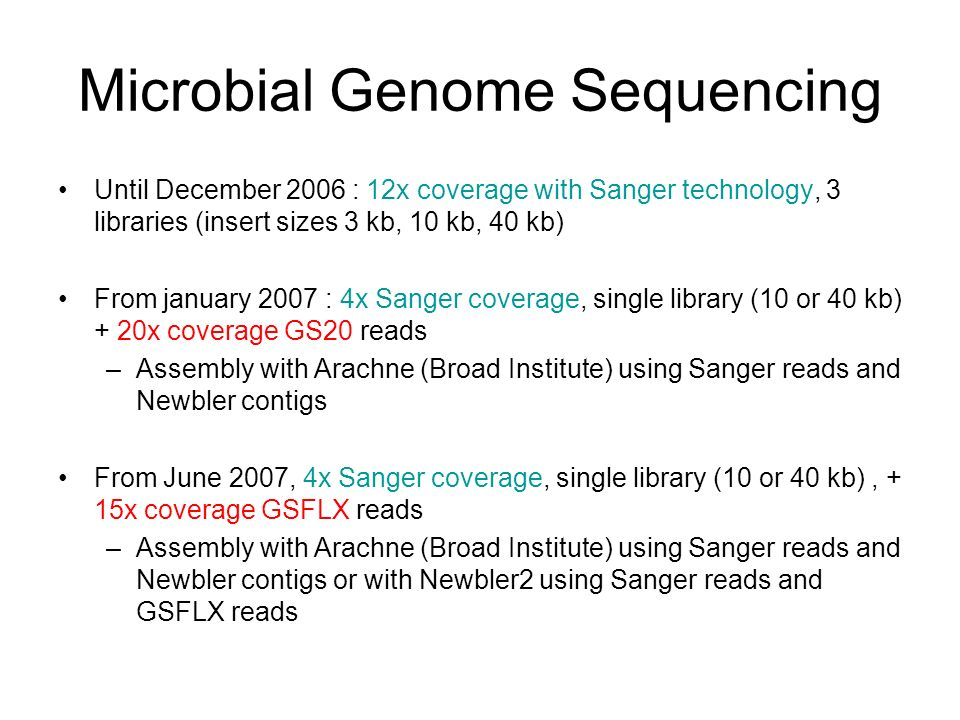 Microbial Genome Sequencing