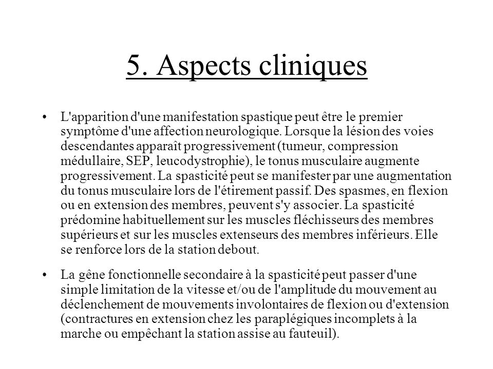 5. Aspects cliniques