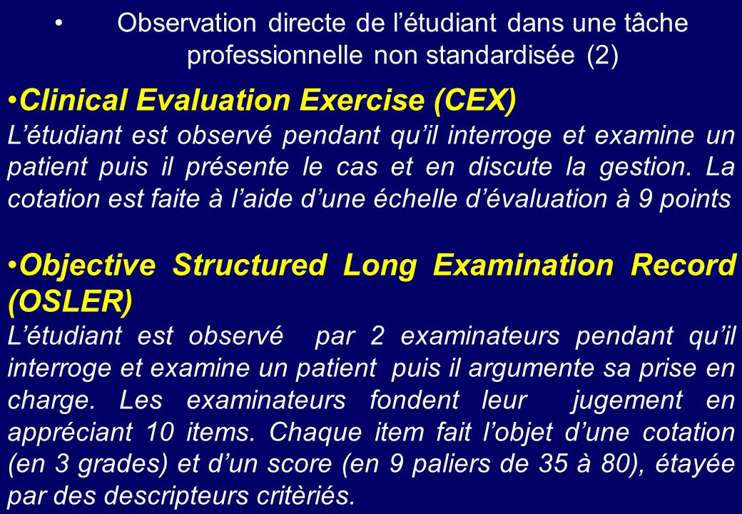 Clinical Evaluation Exercise (CEX)