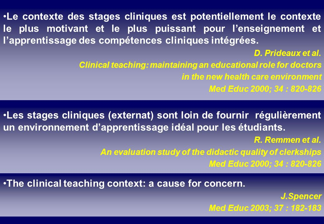 The clinical teaching context: a cause for concern.