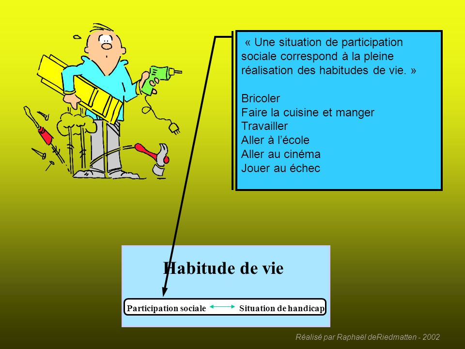 Participation sociale Situation de handicap