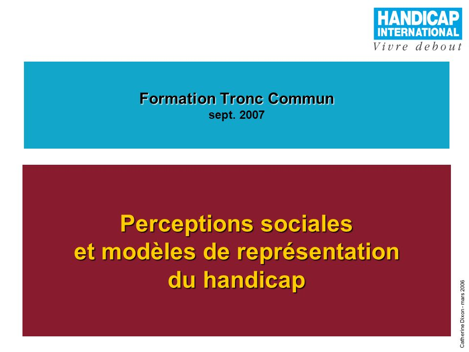 Formation Tronc Commun sept. 2007