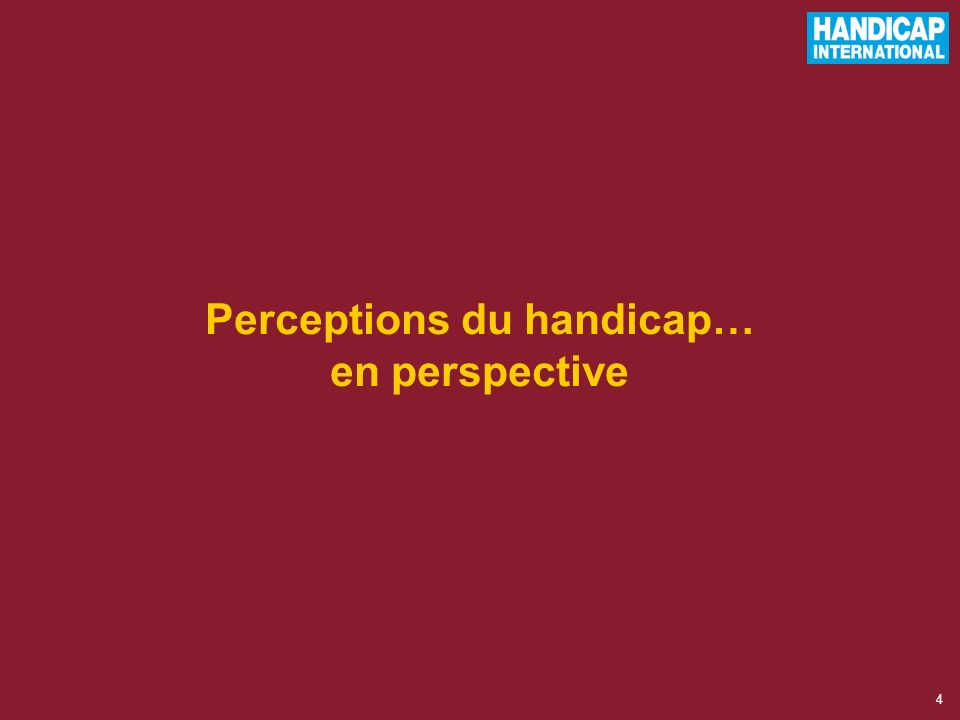 Perceptions du handicap… en perspective