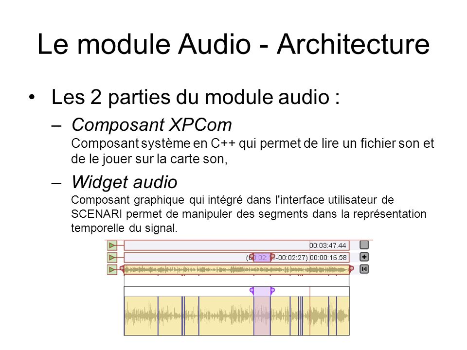Le module Audio - Architecture