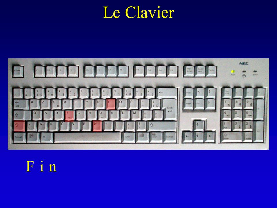 Le Clavier F i n