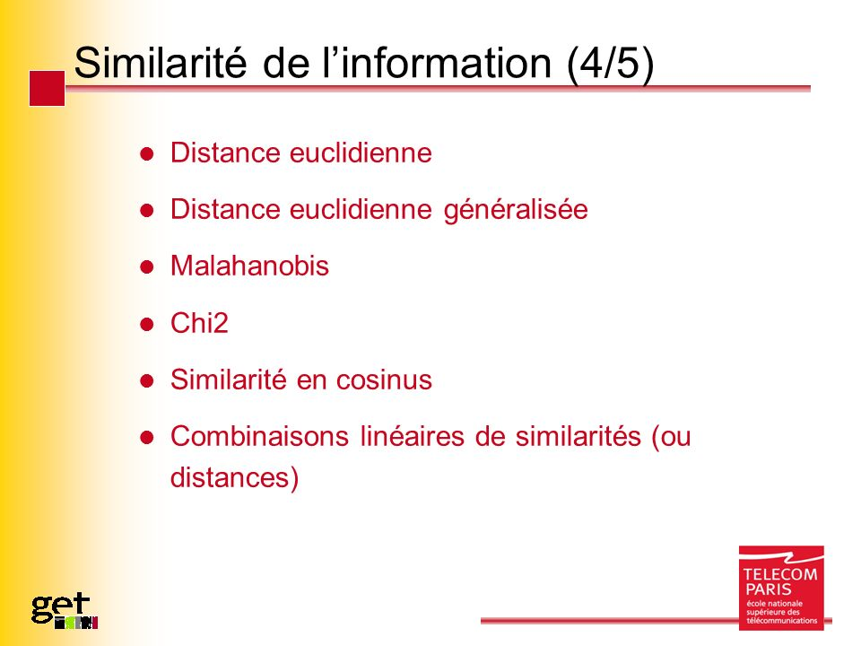 Similarité de l'information (4/5)
