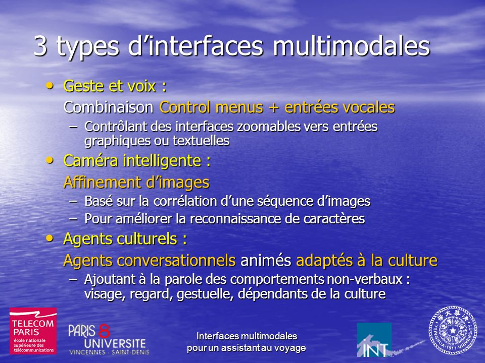 3 types d'interfaces multimodales