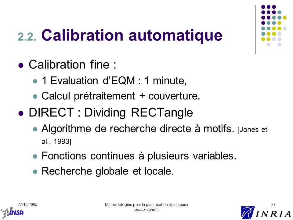 2.2. Calibration automatique