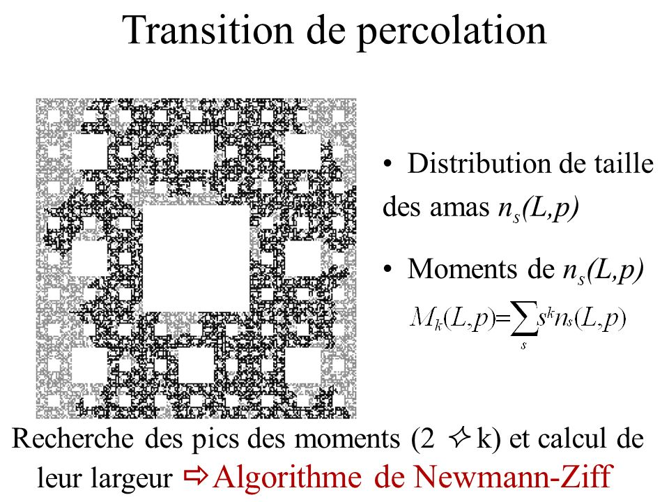 Transition de percolation
