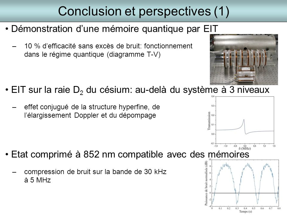 Conclusion et perspectives (1)