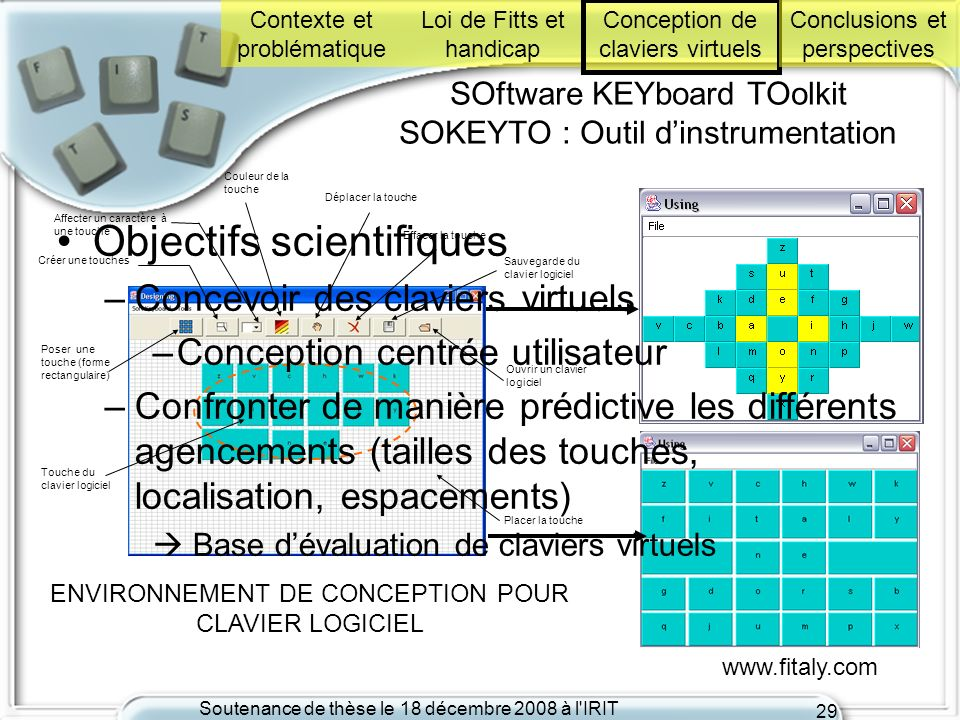 SOftware KEYboard TOolkit SOKEYTO : Outil d'instrumentation