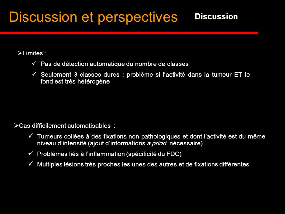 Discussion et perspectives