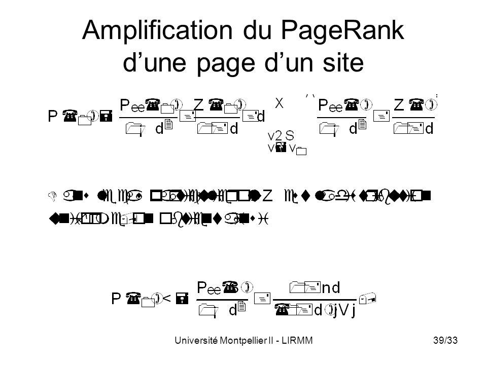 Amplification du PageRank d'une page d'un site