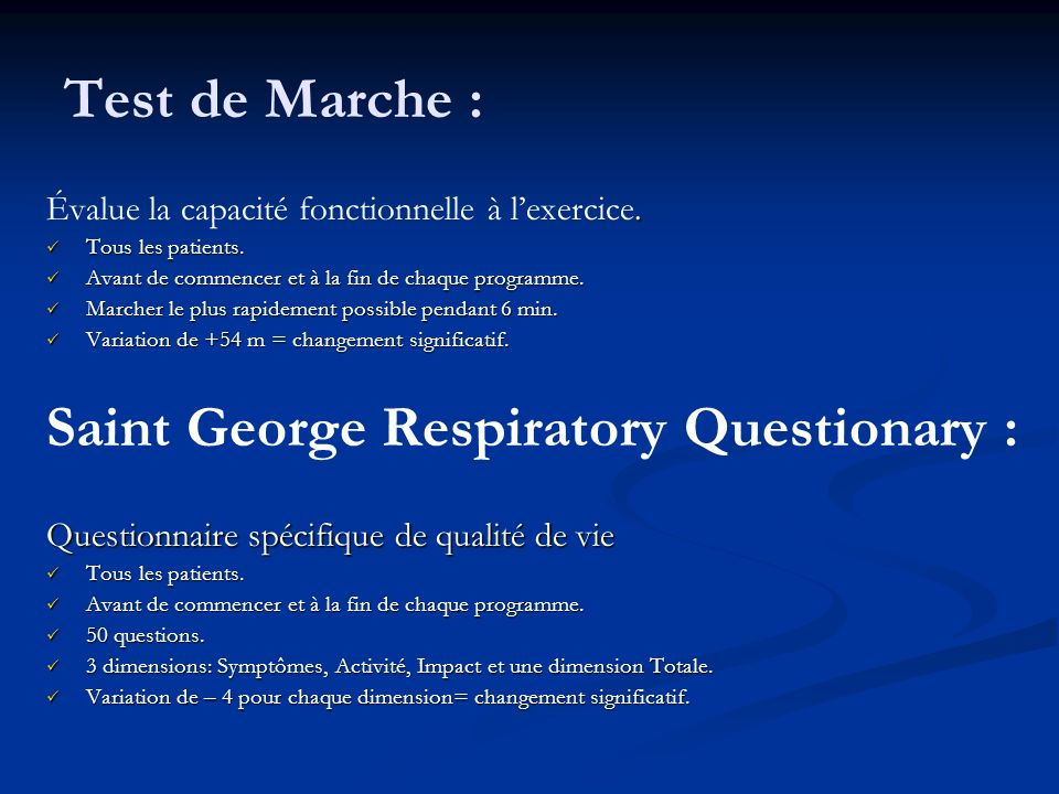 Saint George Respiratory Questionary :