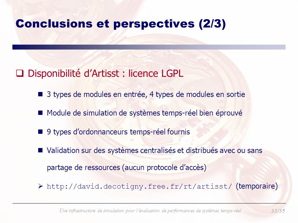 Conclusions et perspectives (2/3)