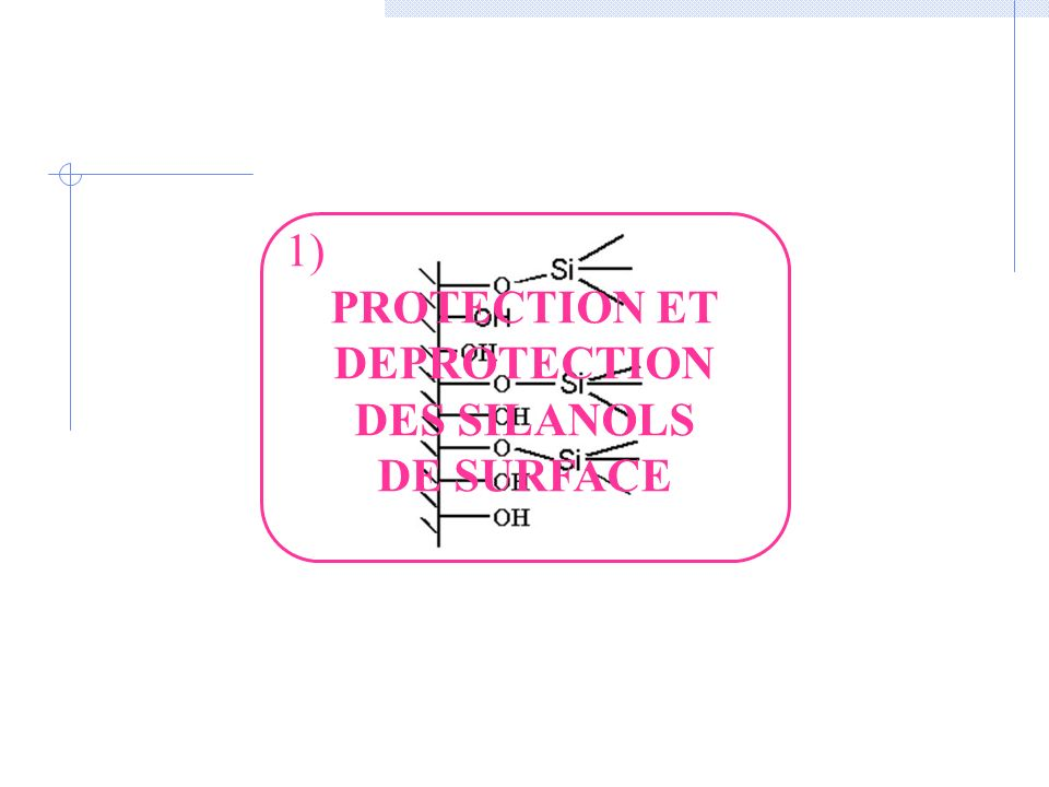 PROTECTION ET DEPROTECTION DES SILANOLS DE SURFACE