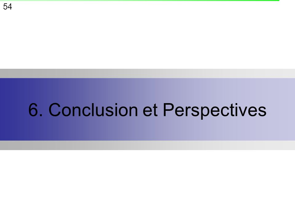 6. Conclusion et Perspectives