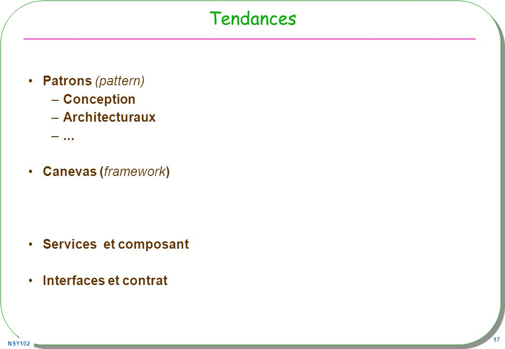 Tendances Patrons (pattern) Conception Architecturaux ...