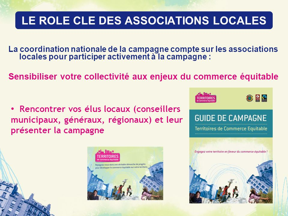 LE ROLE CLE DES ASSOCIATIONS LOCALES