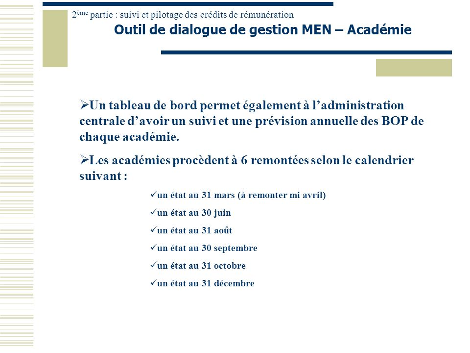 Outil de dialogue de gestion MEN – Académie