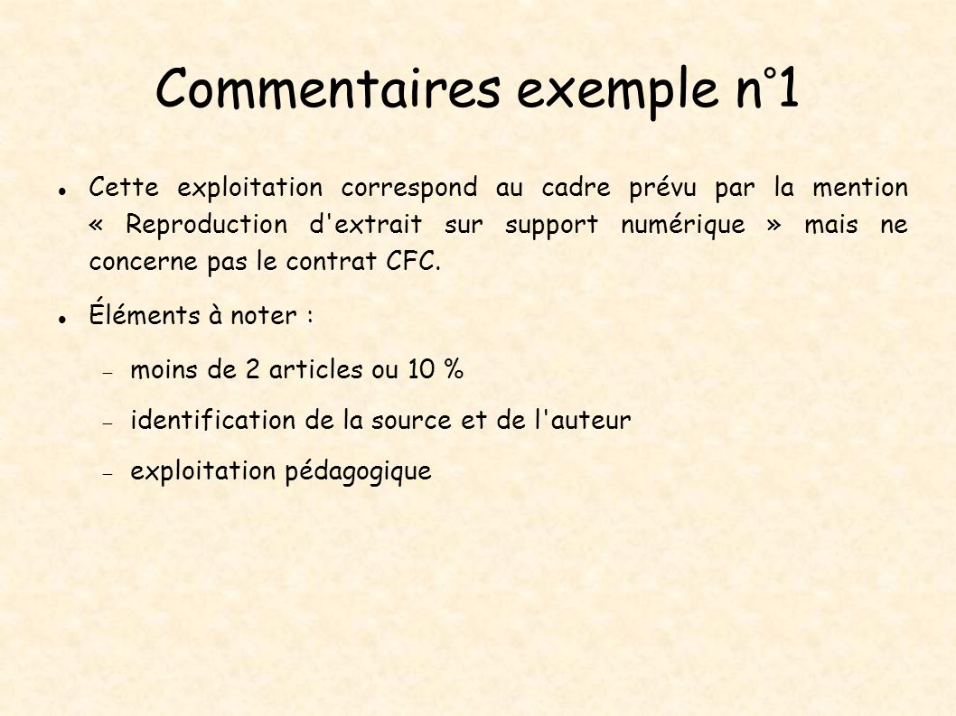 Commentaires exemple n°1