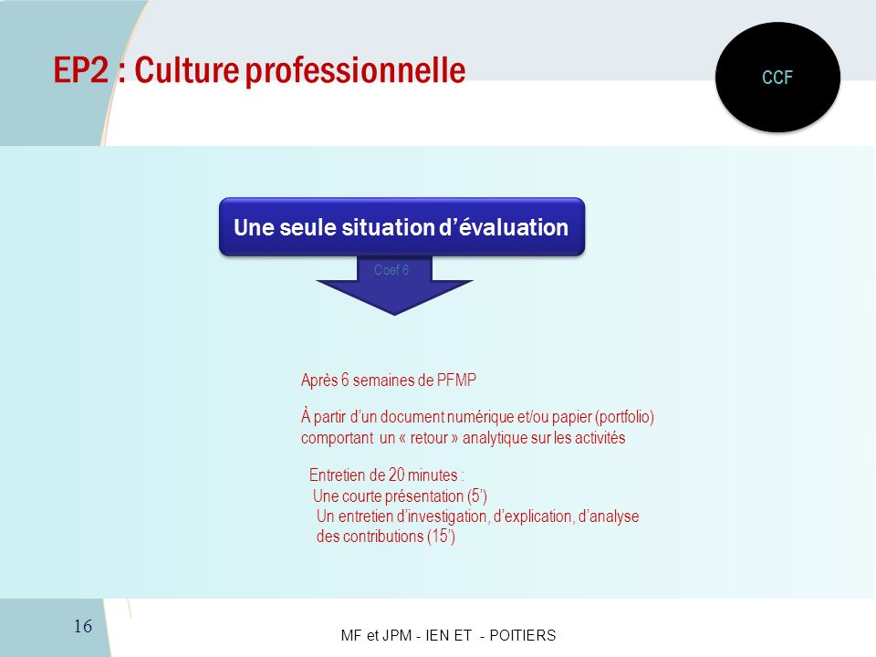EP2 : Culture professionnelle
