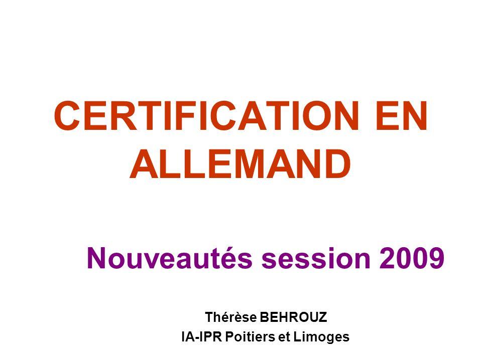 certification en allemand ppt video online t l charger. Black Bedroom Furniture Sets. Home Design Ideas