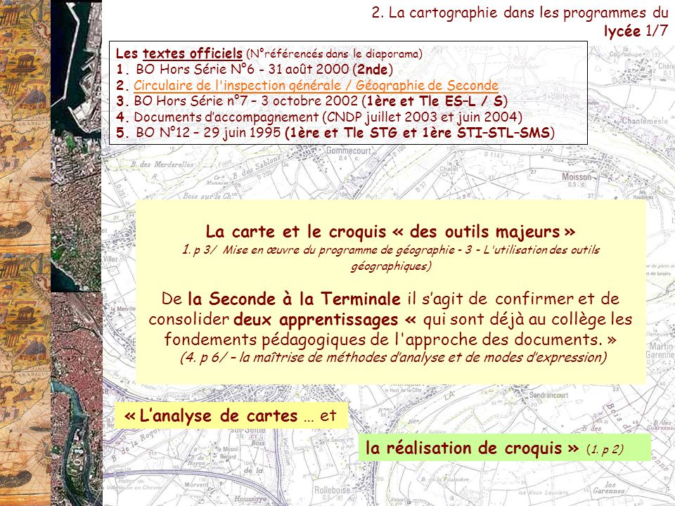 « L'analyse de cartes … et