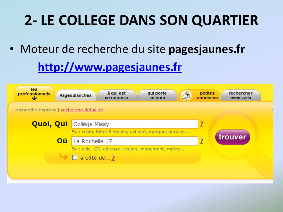 2- LE COLLEGE DANS SON QUARTIER