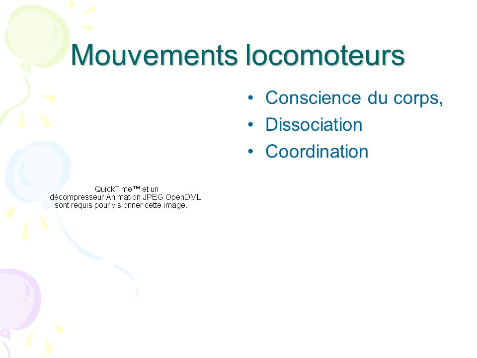 Mouvements locomoteurs