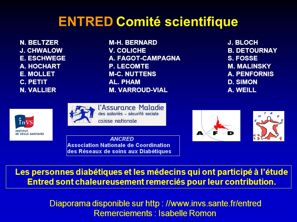 ENTRED Comité scientifique