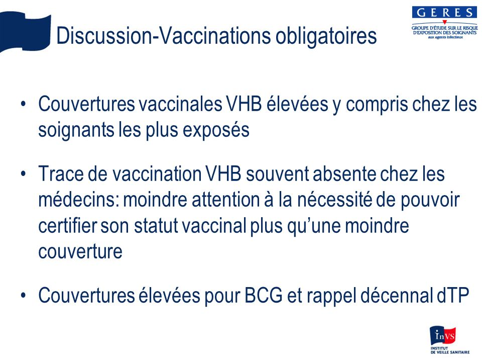 Discussion-Vaccinations obligatoires