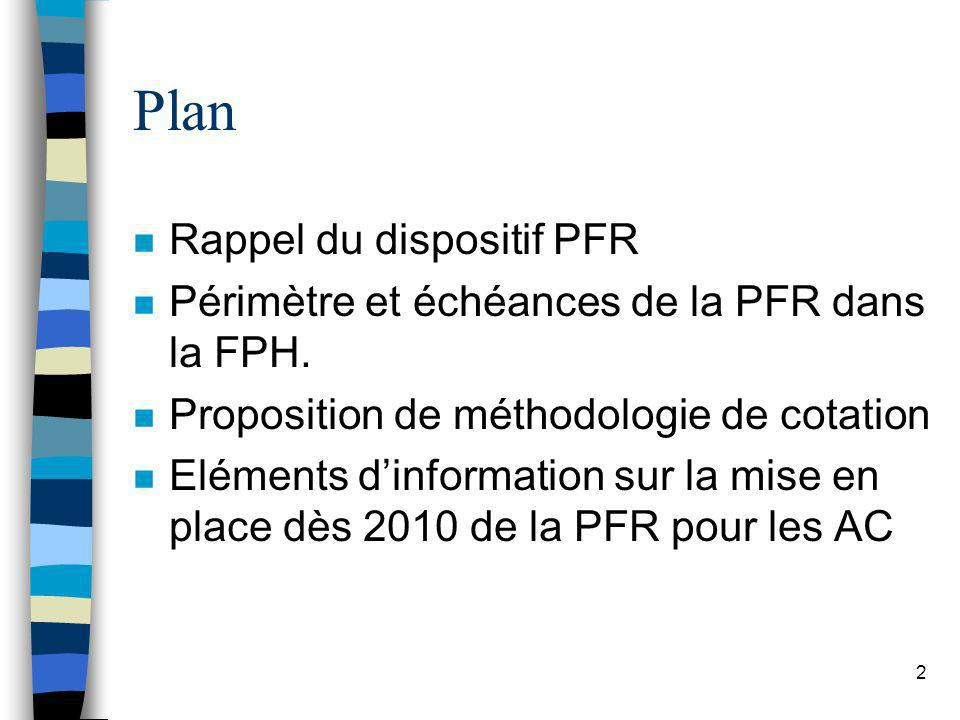 Plan Rappel du dispositif PFR