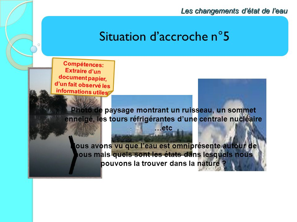 Situation d'accroche n°5