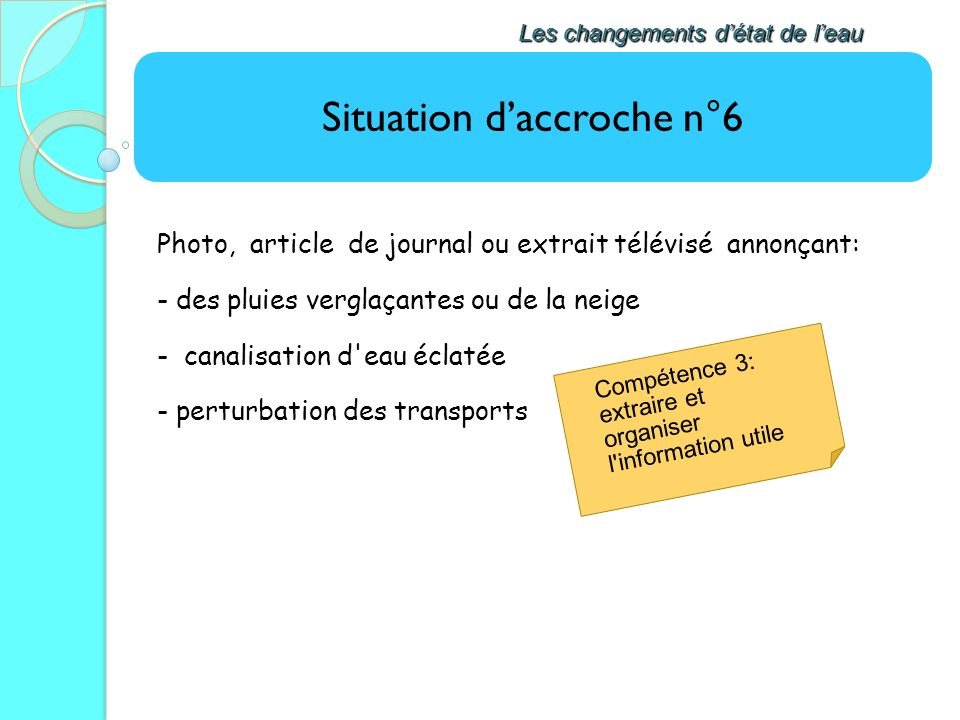 Situation d'accroche n°6