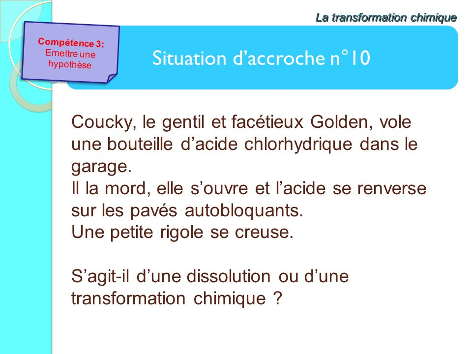 Situation d'accroche n°10