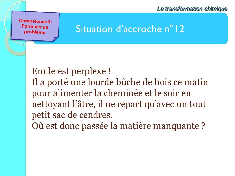 Situation d'accroche n°12
