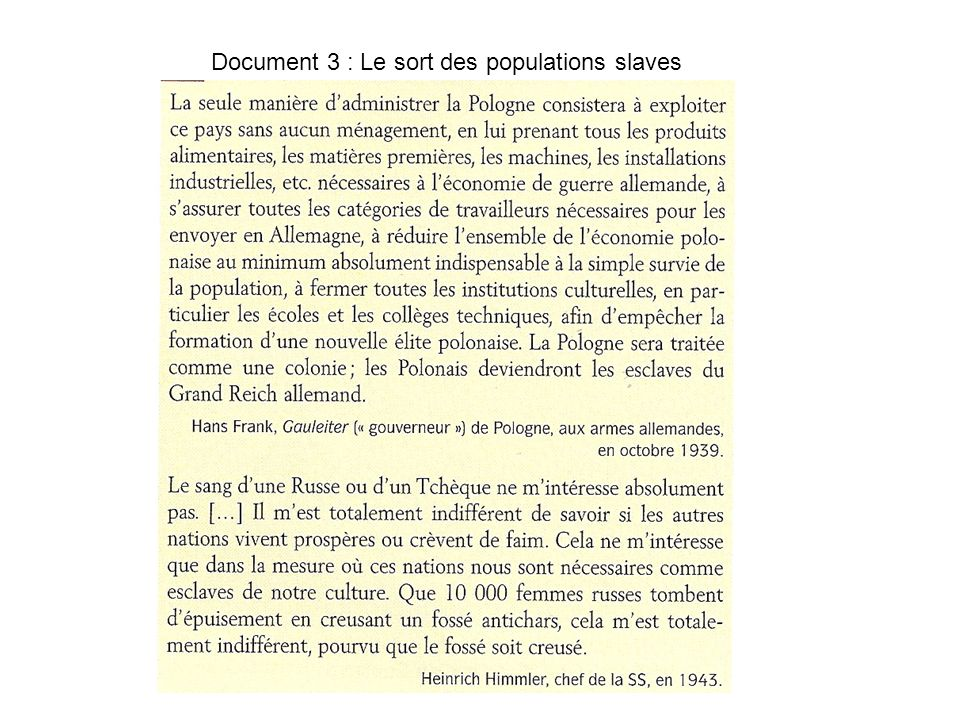 Document 3 : Le sort des populations slaves
