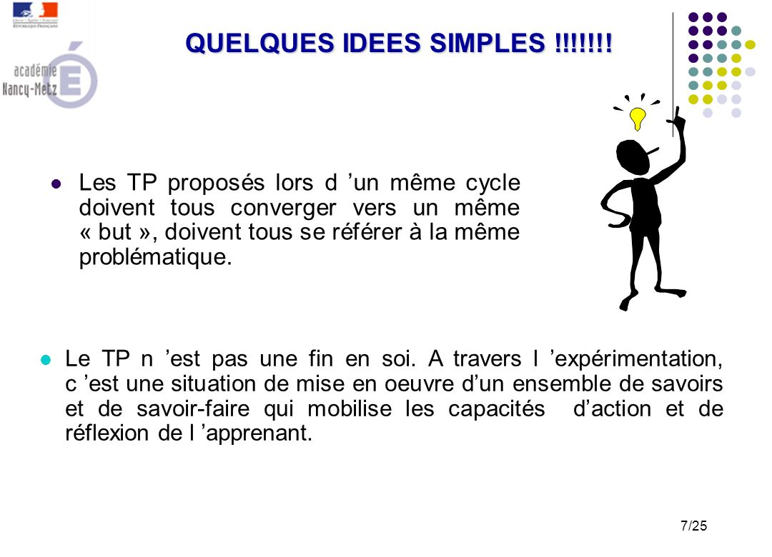 QUELQUES IDEES SIMPLES !!!!!!!