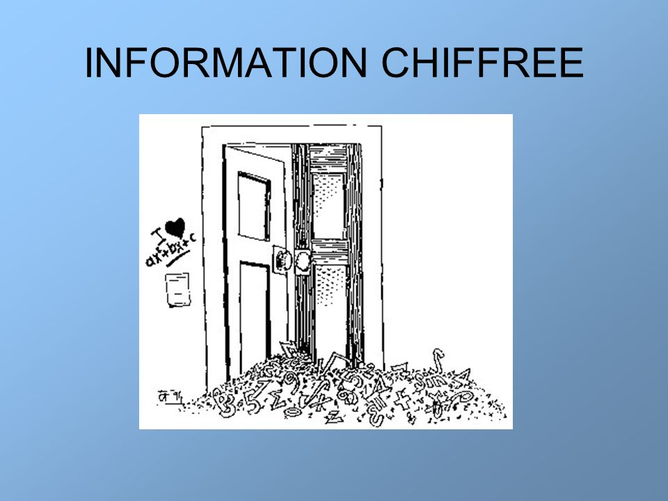 INFORMATION CHIFFREE